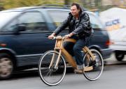 La bici diventa di legno