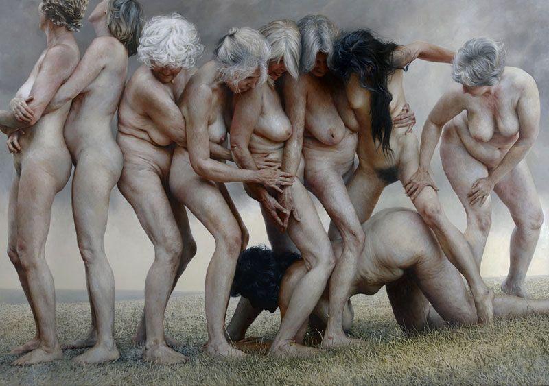 Nudo di anziana: i quadri di Aleah Chapin - Personaggi - D.it Repubblica