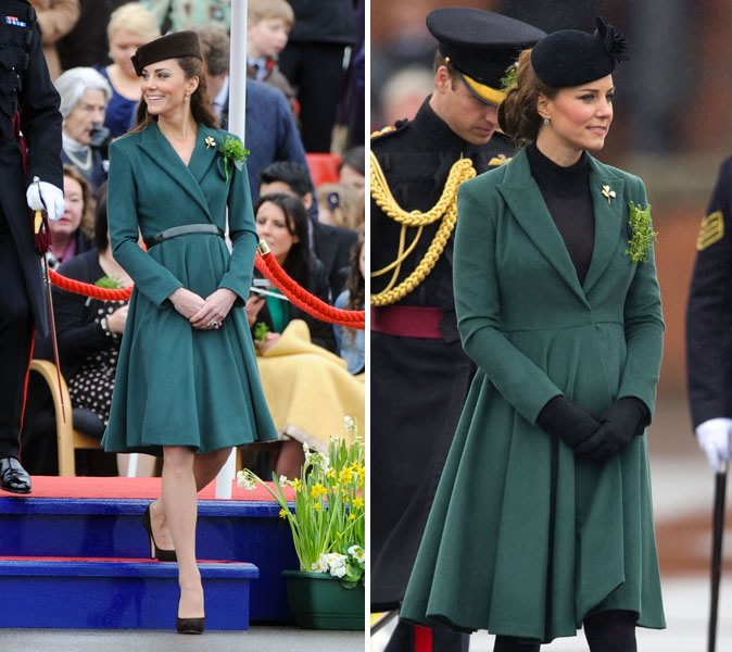 Abito kate middleton verde