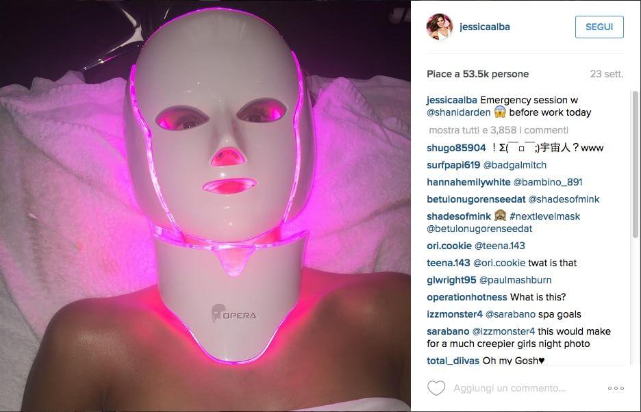 LED mask: la luce che ti fa bella