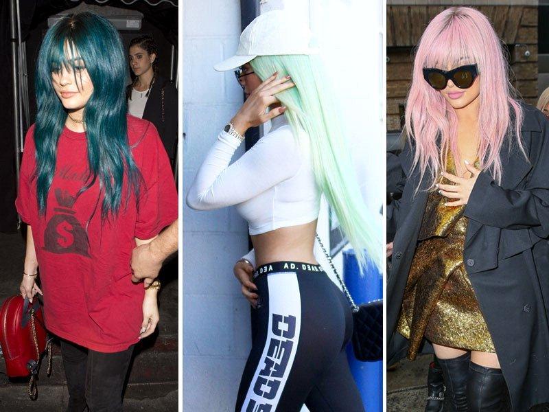 Preferenza Kylie Jenner punta sui capelli blu: tutti i look 2013-2016  QL21