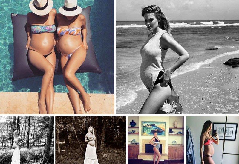 Da sinistra, in senso orario. Dagli account Instagram di Bar Refaeli @barrefaeli, Behati Prinsloo @behatiprinsloo, Chrissy Teigen @chrissyteigen e Candice Swanepoel @angelcandices