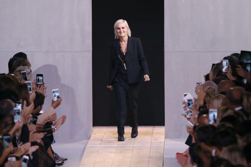 Maria Grazia Chiuri al suo debutto da Dior
