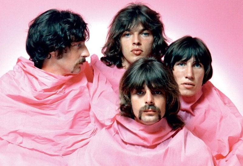 Un ritratto del 1968: Nick Mason, David Gilmour, Rick Wright e Roger Waters.