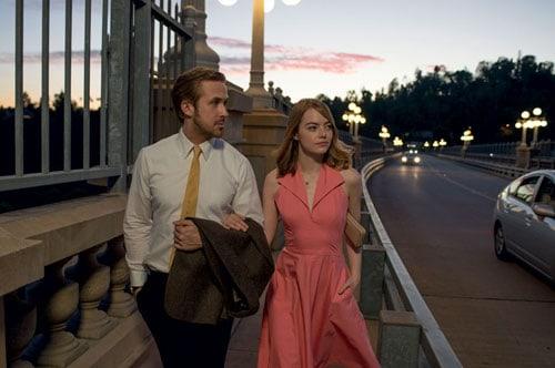 Con Ryan Gosling in una scena di La La Land, di Damien Chazelle, in uscita il 26 gennaio.