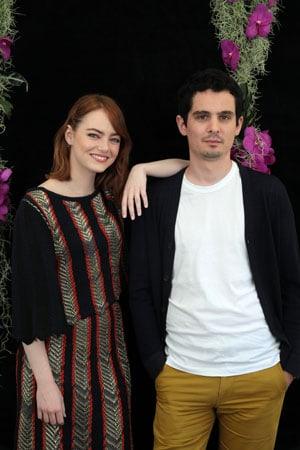 Damien Chazelle con Emma Stone