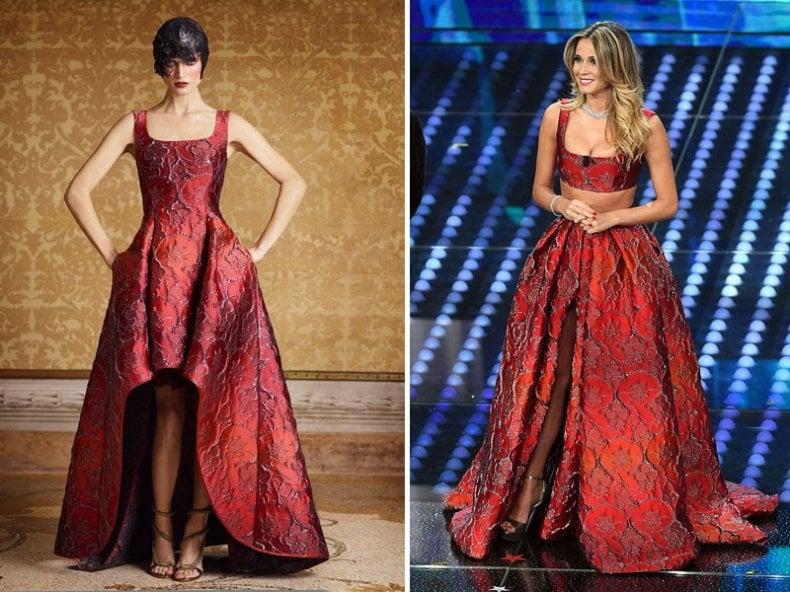 huge discount b7371 ba556 L'abito di Diletta, un pezzo d'alta moda firmato Alberta ...