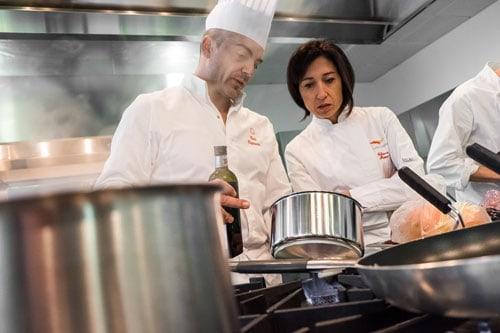 Chiara Manzi, fondatrice dell'Academy Culinary Nutrition, con Paolo Cappuccio