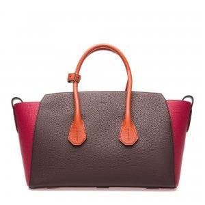 La borsa di pelle bicolore