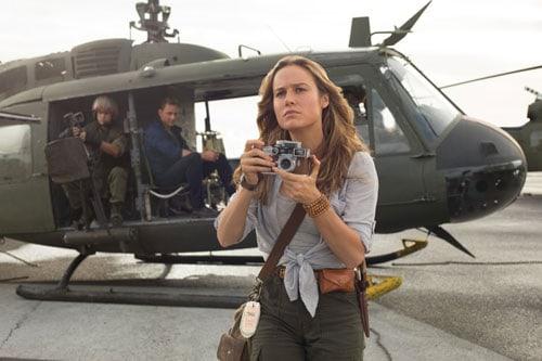 Larson sul set del suo ultimo film uscito al cinema, Kong: Skull Island, remake-colossal da 125 milioni di dollari. Con la regia di Jordan Vogt-Roberts, girato in Vietnam, con un cast eccezionale: Tom Hiddleston, John Goodman e Samuel L. Jackson