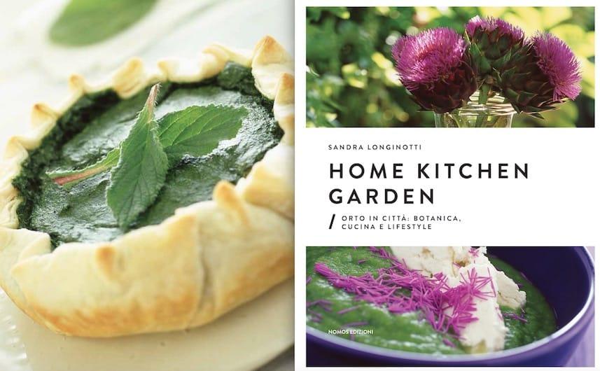 La ricetta estratta e la copertina del libro Home Kitchen Garden