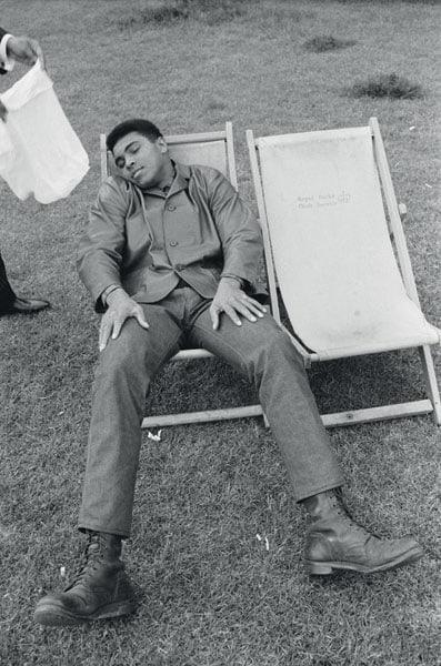 Il riposo del guerriero: Cassius Clay nel 1966.