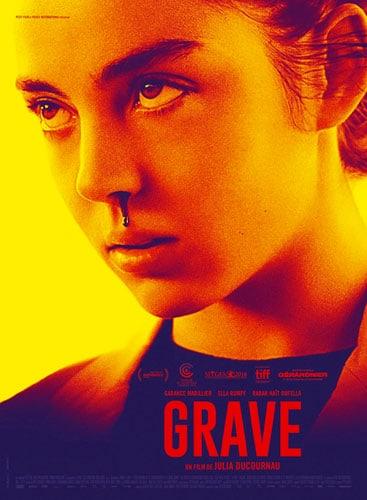 La locandina originale di Grave (Raw in Usa),della regista Julia Ducournau