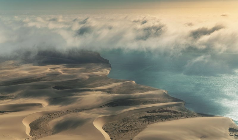 La Skeleton Coast, in Namibia.