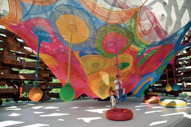 Woods of Net, di Toshiko Horiuchi MacAdam, Hakone Open-Air Museum, Giappone