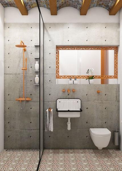 Come creare un bagno in perfetto stile industriale d - Creare un bagno con sanitrit ...