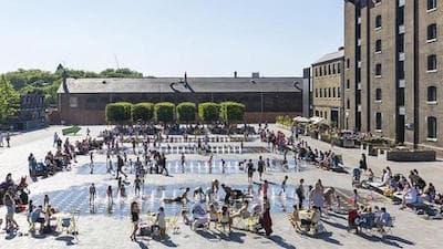Granary Square, il cuore del nuovo quartiere, www.kingscross.co.uk