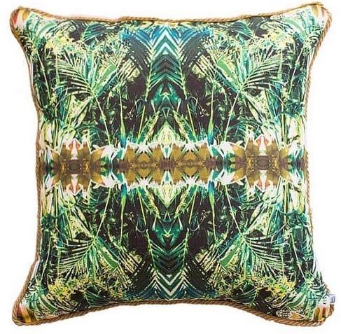 Federa per cuscino con motivo tropicale effetto caleidoscopio