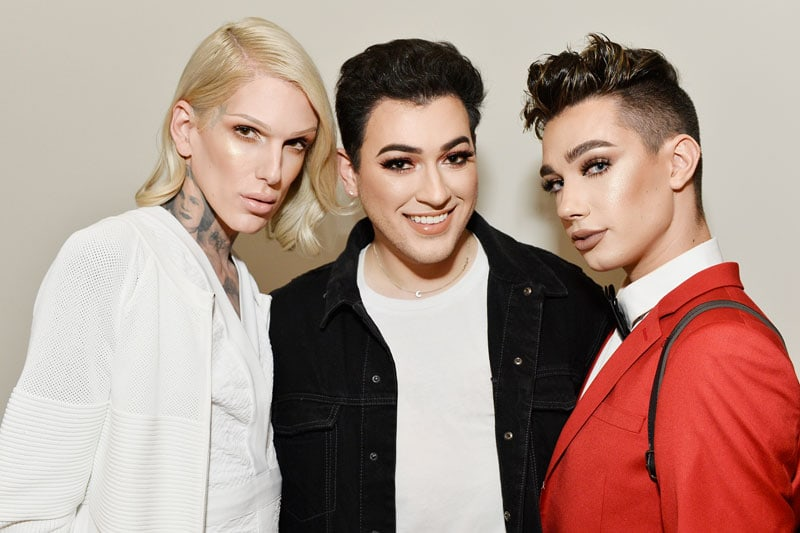 Jeffree Star, Manny Gutierrez e James Charles