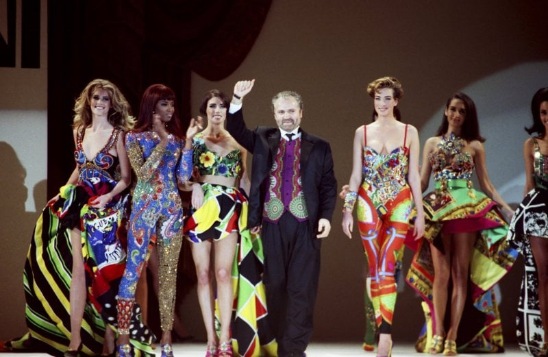 1991: Gianni Versace in uno show a Los Angeles