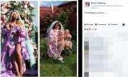 Mamma irlandese imita la foto di Beyoncé con i gemelli