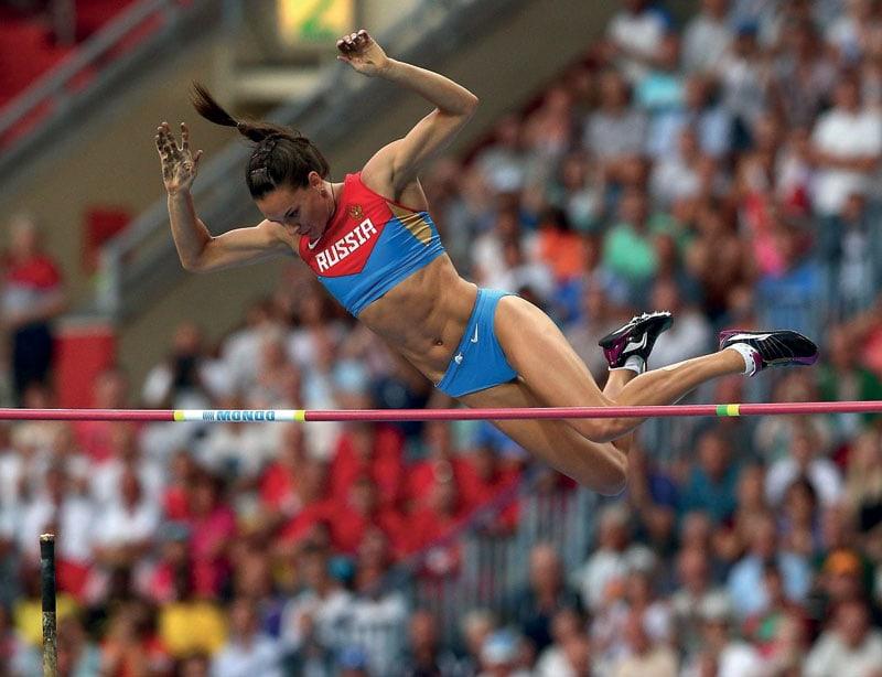 Il salto ai Mondiali di atletica di Mosca nel 2013.