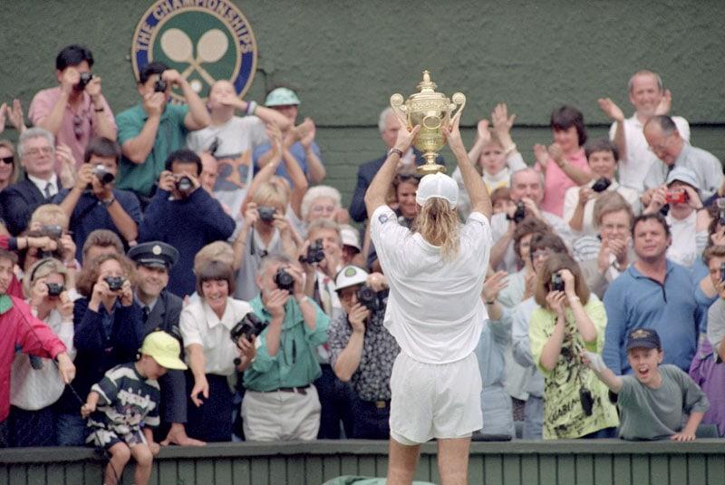 Andre Agassi a Wimbledon nel '92