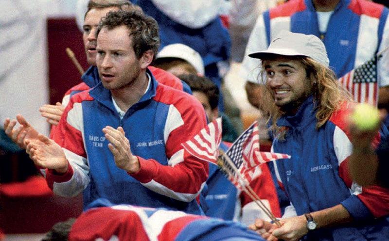 1992 U.S. John McEnroe e Andre Agassi