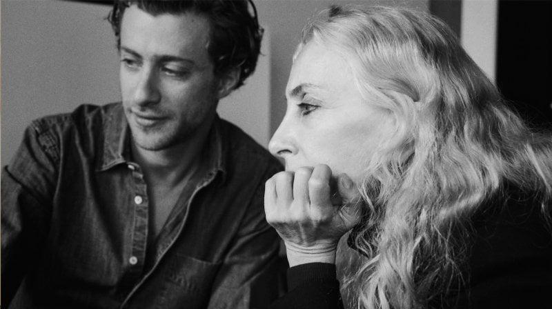 Franca Sozzani col figlio Francesco Carrozzini