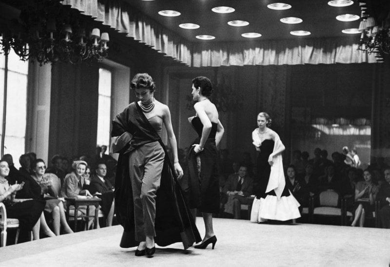 Una delle prime sfilate a Firenze, 1951