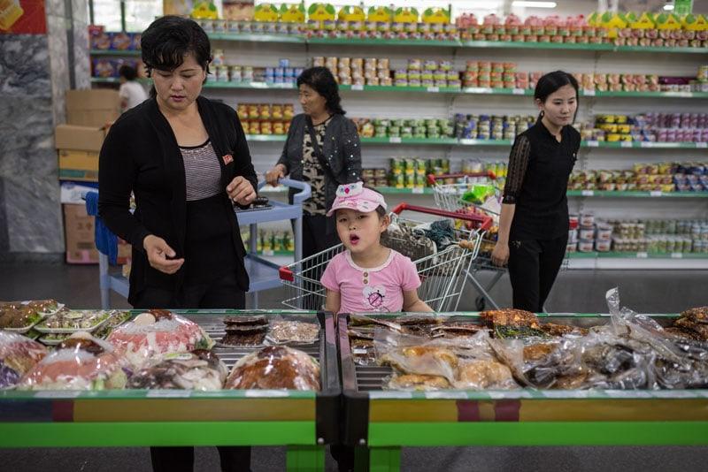 Supermercato a Pyongyang