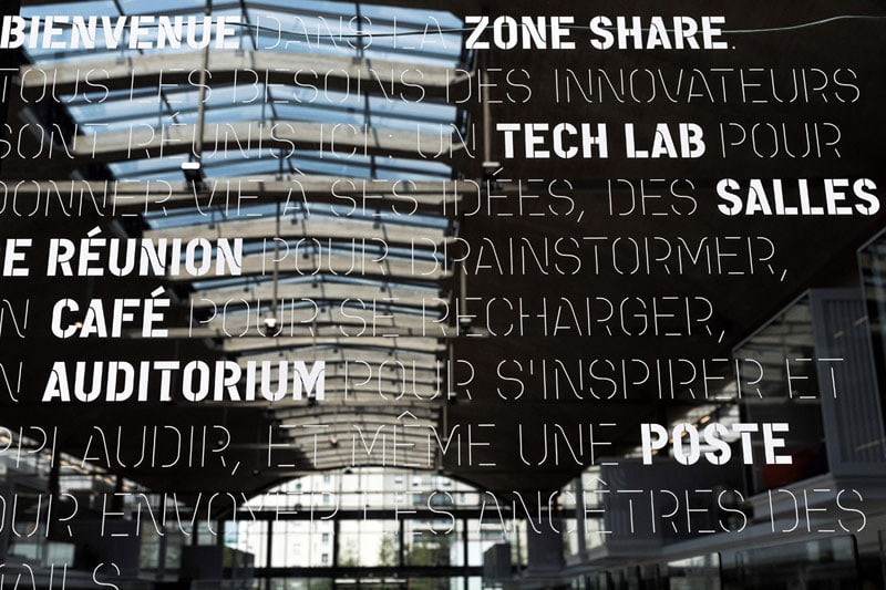 La Station F. Il campus si trova nel XIII° arrondissement di Parigi, vicino alla Bibliothèque Nationale de France. Info: stationf.co.