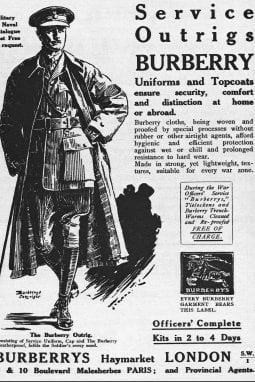 Pubblicità Burberry, 1918