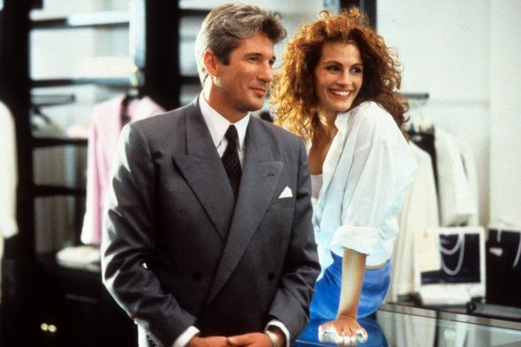 Julia Roberts e Richard Gere in una scena del film 'Pretty Woman' del 1990
