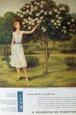 Una delle campagne create da Frances Gerety