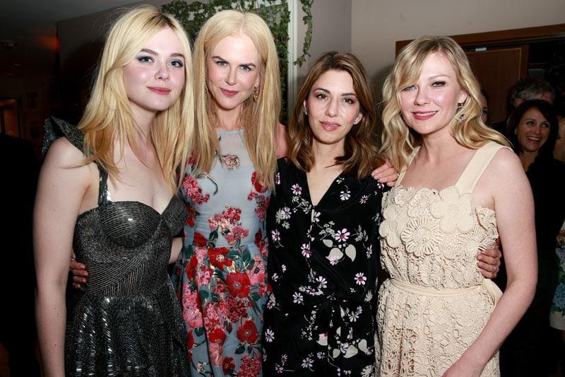 Elle Fanning, Nicole Kidman, Sofia Coppola e Kirsten Dunst alla prima di