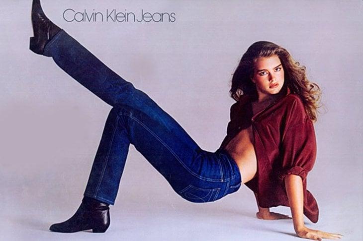 Brooke Shields nella pubblicità di Calvin Klein