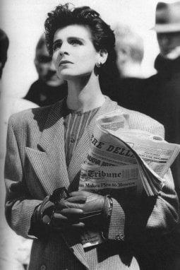 Una campagna pubblicitaria di Giorgio Armani degli anni Ottanta