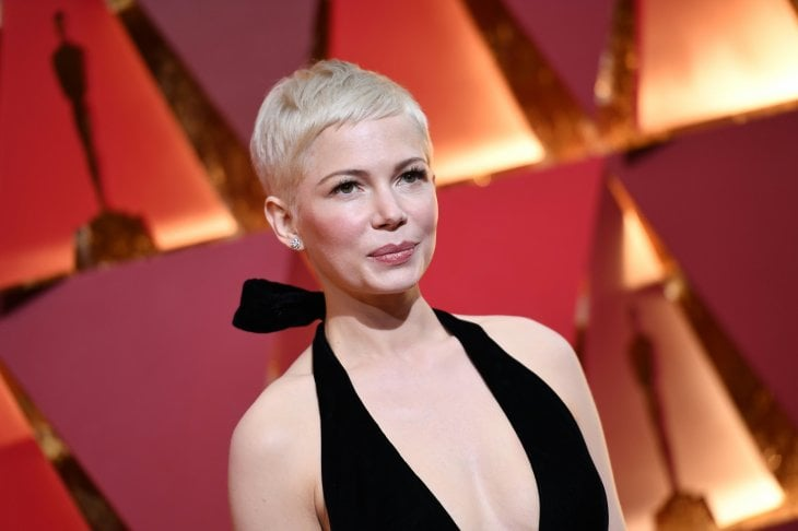 L'attrice Michelle Williams con il celebre pixie che l'ha resa famosa
