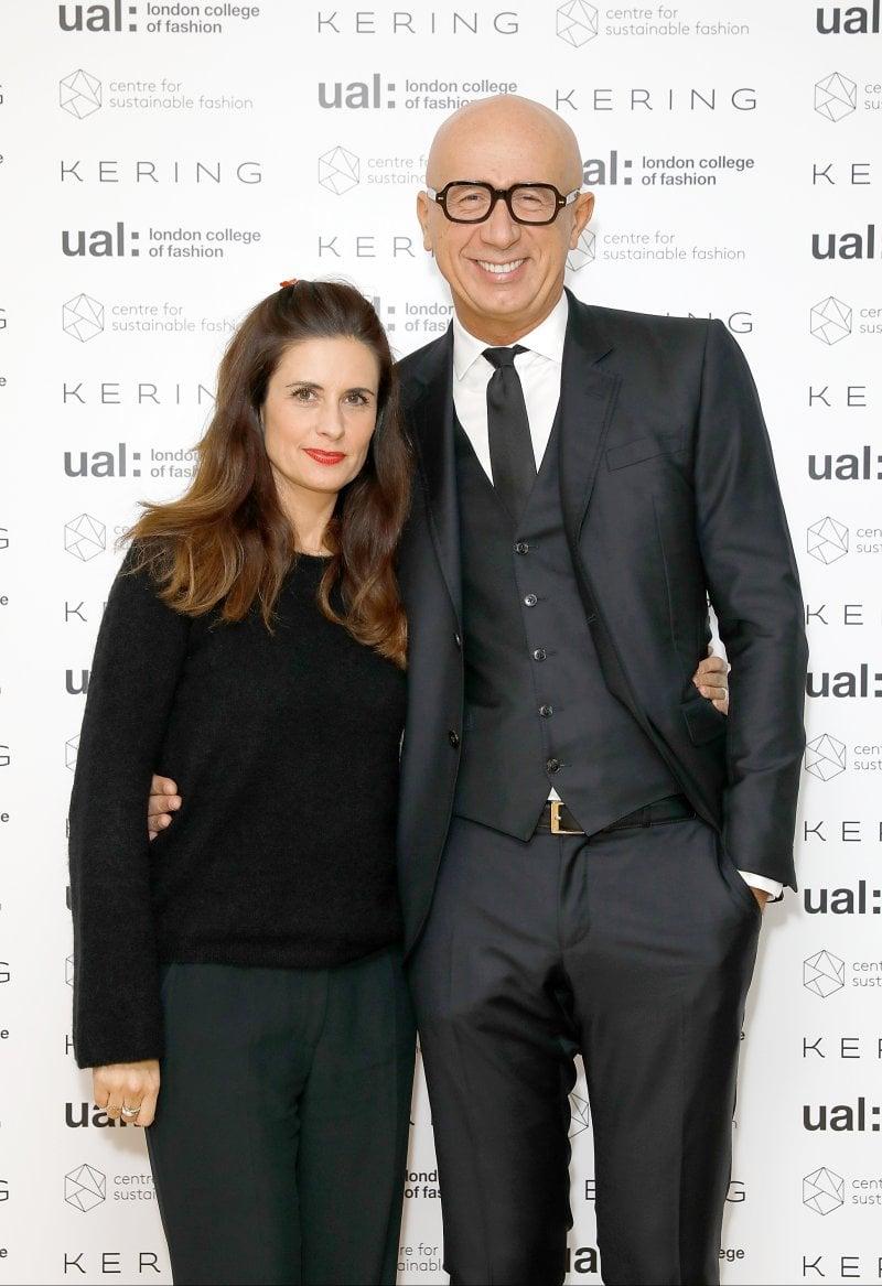 Livia Firth e Marco Bizzarri durante i Kering Talk a Londra