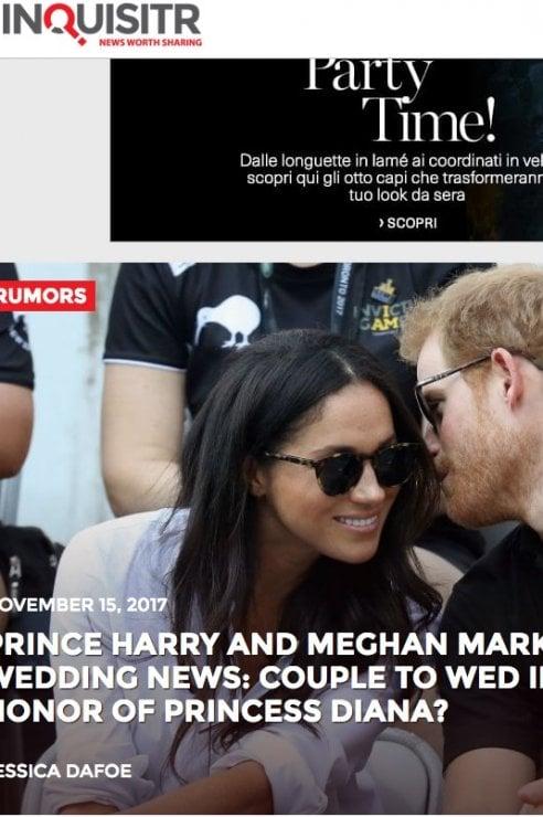 Meghan Markle ed Harry: sposi a luglio in omaggio a Lady D?