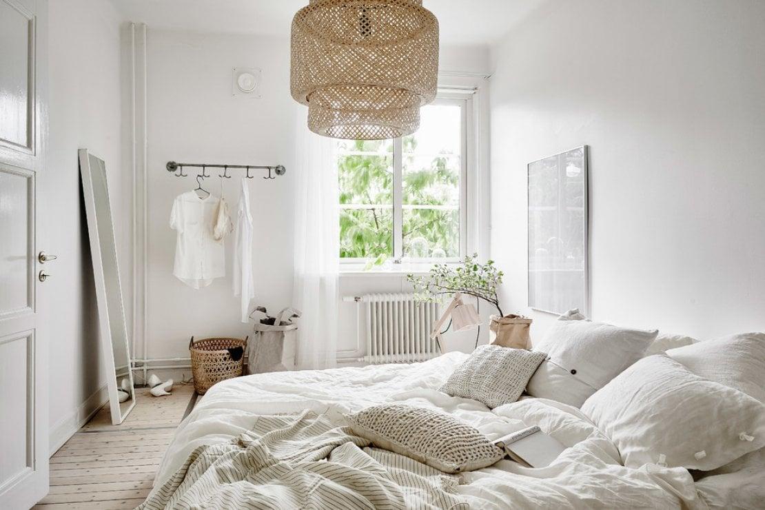 Come ottenere ordine e minimalismo in camera da letto
