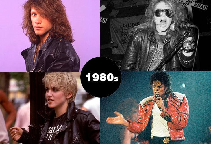 In senso roario Jon Bon Jovi, Axl Rose, Michael Jackson e Madonna