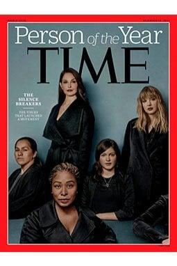 La copertina del Time con le Silence Breakers elette Persona dell'anno 2017. Vestite di nero. Un caso?