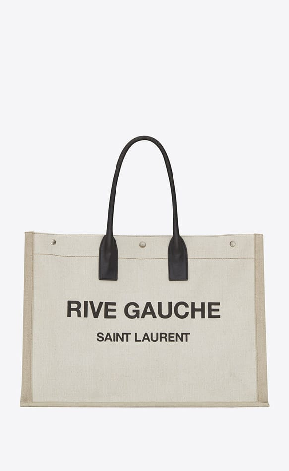 Shopper tela e pelle, Saint Laurent