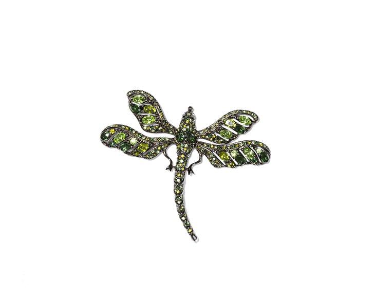 Spilla libellula colorata, Kenneth Jay lane per Tory Burch
