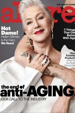 L'attrice Helen Mirren sulla cover della rivista Allure