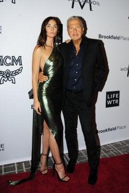 Mario Testino e la top model Lily Aldridge