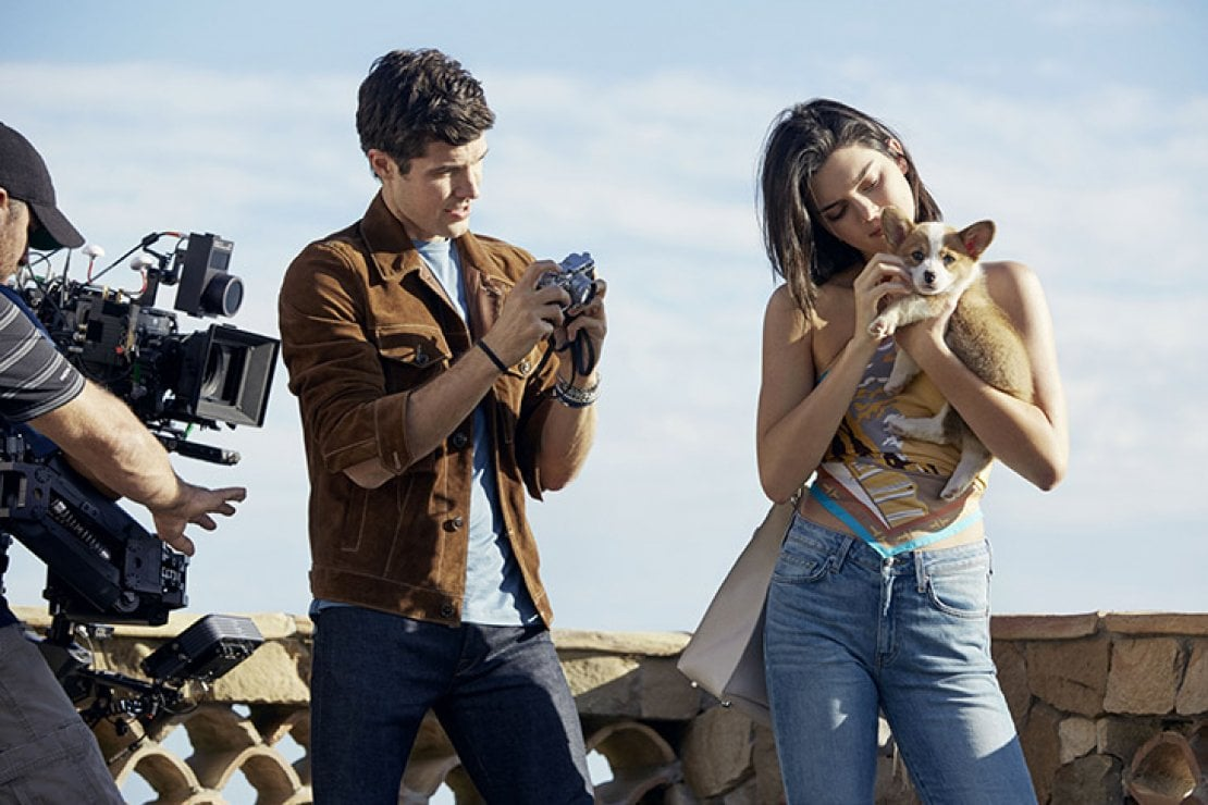 Roberto Bolle e Kendall Jenner durante le riprese
