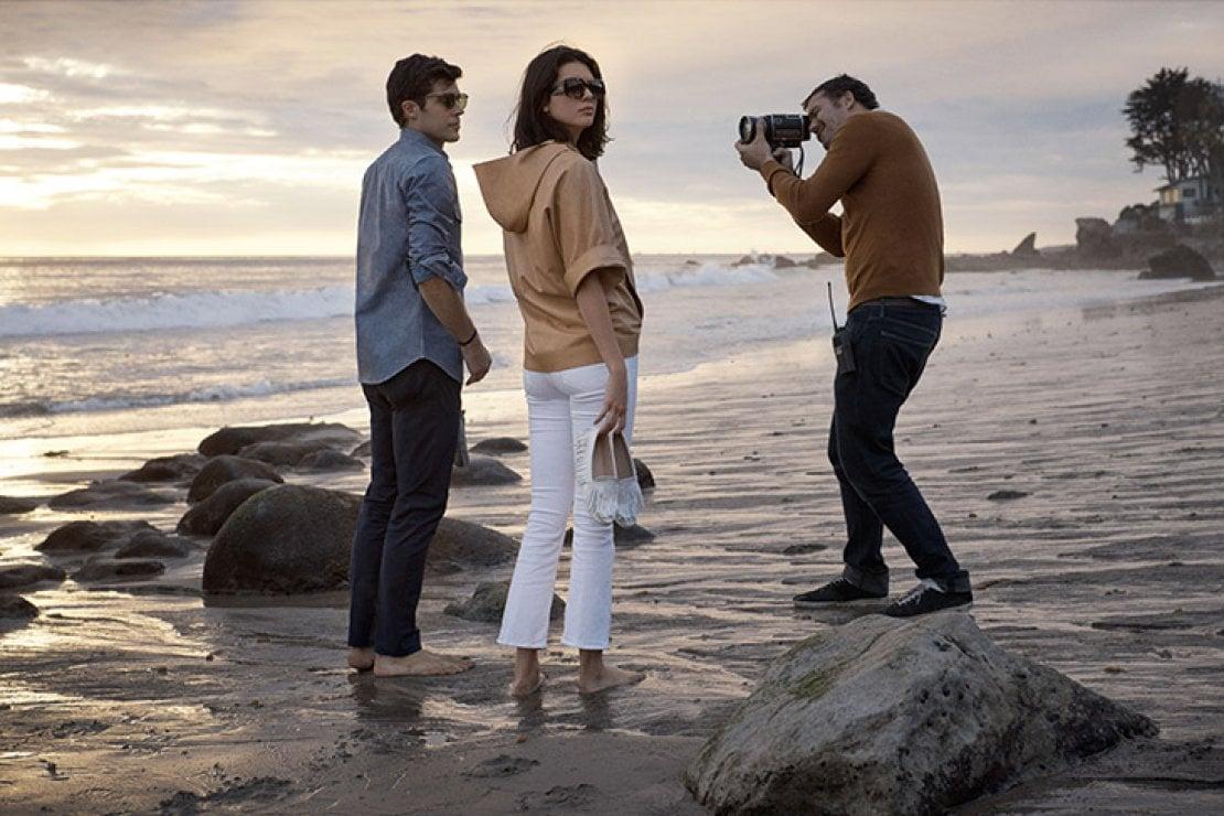 Roberto Bolle e Kendall Jenner con il fotografo Mikael Jansson sul set a Malibu